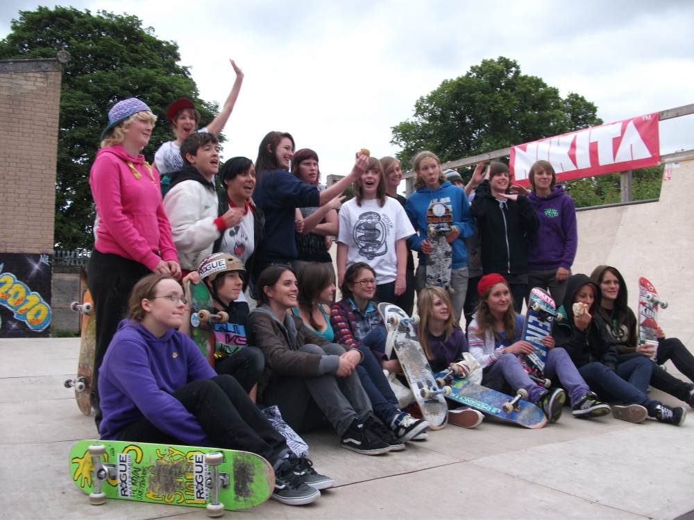 All Girl Skate Jam 2010 saint albans pioneer park