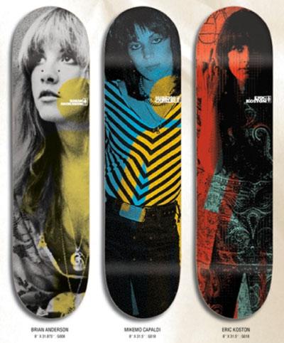 chick on skateboard